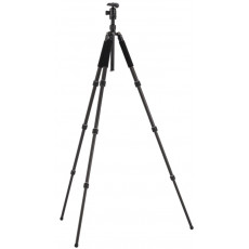Compact 4-Section Carbon Fiber Photo Tripod with Ball Head