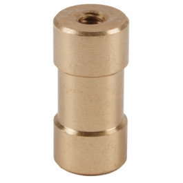 "Double Ended Spigot with 1/4""-20 and 3/8""-16 Female Threads"