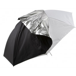 "45"" Compact Translucent Umbrella w/ Removable Silver Back"