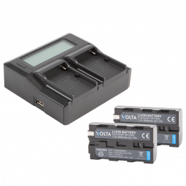 Volta NP-F550 Li-Ion Battery and Dual Charger Kit
