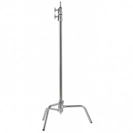 "40"" C-Stand with Grip Head and Arm (Chrome)"