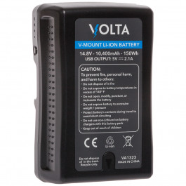 Volta 150Wh 14.8V Li-ion V-Mount Battery with USB and D-Tap Ports