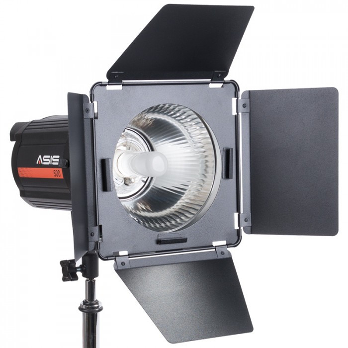 Asis Barn Doors With Grid And Gels Monolight Accessories Strobes