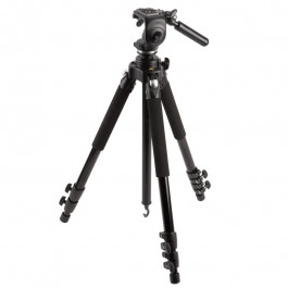 Mini Video Fluid Head with 3-Section Aluminum Tripod Kit